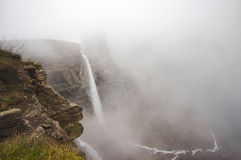 Nervion river source and waterfall Royalty Free Stock Image