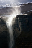 Nervion river source and waterfall with wind Stock Image