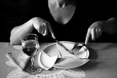 Nervosa de la anorexia Foto de archivo libre de regalías