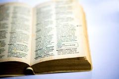 Nervoso in dizionario del thesaurus Fotografie Stock Libere da Diritti