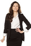 Nervous and angry. Business woman on white background stock images