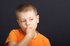 Nervous boy Royalty Free Stock Images
