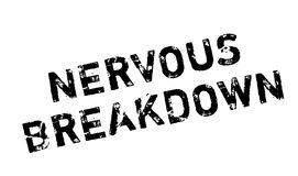 Nervous Breakdown rubber stamp Royalty Free Stock Photo