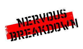 Nervous Breakdown rubber stamp Royalty Free Stock Photos