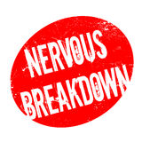 Nervous Breakdown rubber stamp Royalty Free Stock Photography