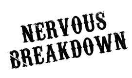 Nervous Breakdown rubber stamp Stock Images