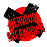 Nervous Breakdown rubber stamp Stock Image