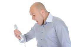 Nervous businessman Stock Images