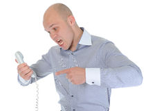 Nervous businessman Stock Image