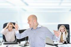 Nervous businessman Stock Photography