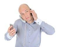 Nervous businessman Royalty Free Stock Images