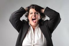 Nervous businesswoman Royalty Free Stock Image
