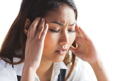 Nervous businesswoman holding her head Royalty Free Stock Photo