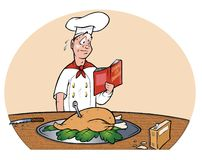 Nervous chef cooking Royalty Free Stock Photo