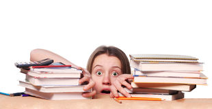 Nervous College Student Before Exams Royalty Free Stock Photo
