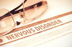 Nervous Disorder. Medicine. 3D Illustration. Royalty Free Stock Photo