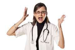 Nervous doctor Royalty Free Stock Photos
