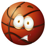Nervous emotion basket ball Royalty Free Stock Images
