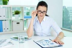 Nervous employer Stock Photos