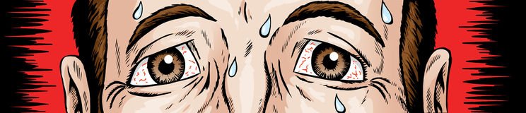 Nervous eyes. Cartoon of scared and nervous eyes Royalty Free Stock Images