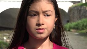Nervous and Fearful Young Girl. Stock video of fearful young girl stock footage