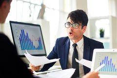 Worried financier Stock Photography