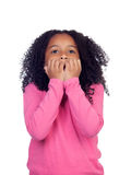 Nervous little girl Stock Image