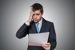 Free Nervous Man Is Afraid Of Public Speech And Sweating Stock Image - 110795251