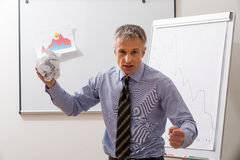 Nervous manager in the office. Stock Images