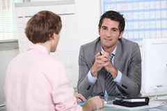 Man in job interview Stock Photo