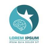 Nervous neurology logo and neurological diseases. Brain, neuralgia, cervical plexus neuralgia, neuralgia and sciatic n Stock Photos