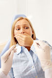 Nervous patient Royalty Free Stock Photography