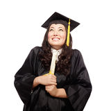 Nervous but proud grad Royalty Free Stock Image