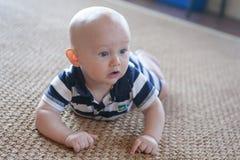 Nervous Crawling Baby Royalty Free Stock Photo