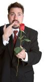 Nervous Rose Man Royalty Free Stock Images