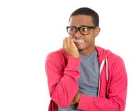 Nervous stressed out young guy Royalty Free Stock Photo