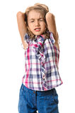 Nervous young girl Royalty Free Stock Photography