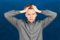 Nervous young man Royalty Free Stock Photo
