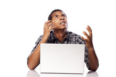 Nervousness and despair Stock Photography