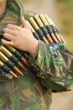 Nervure de munitions Photographie stock libre de droits