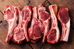 Nervures crues d'agneau image stock