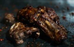 Nervures de barbecue photos libres de droits