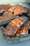 Nervures de barbecue pour les repas de famille Photo libre de droits