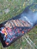 Nervures de BBQ image libre de droits