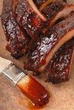 Nervures de BBQ images stock