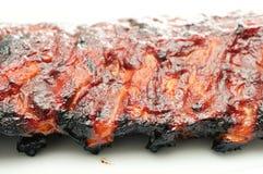 Nervures de BBQ de porc Photos stock