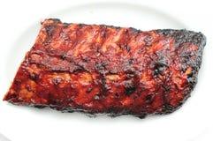 Nervures de BBQ de porc Photos libres de droits