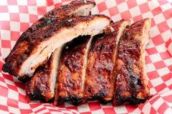 Nervures de BBQ de porc Image libre de droits