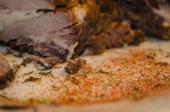 Nervures de porc à la maison Photo libre de droits