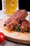 Nervures de porc cuites Photographie stock